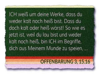 Read more about the article Entschieden oder lau?